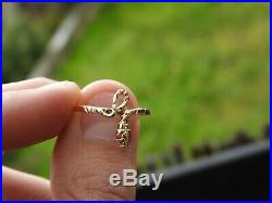 14K Solid Yellow Gold Antique Vintage Model Natural Ruby Wild Snake Ring Size 8