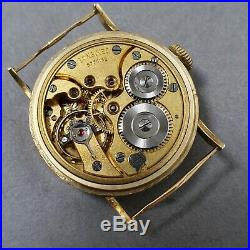 1938 14k gold Longines Cal. 23 sector dial vintage wristwatch