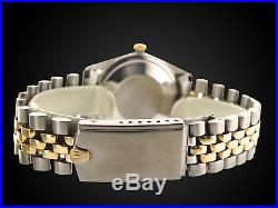 Rolex Datejust Mens 2Tone 14K Gold Stainless Steel Watch Oval Jubilee Band 1601