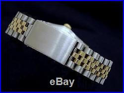 Rolex Datejust Mens Two-Tone Yellow Gold Stainless Steel Watch Blue Dial 1601