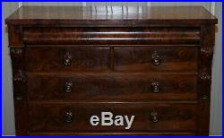 Victorian Flamed Mahogany Chest Of Drawers Large Substantial Storage Options