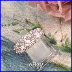 Vintage Jewellery Gold Ring with White Sapphires Antique Art Deco Jewelry R